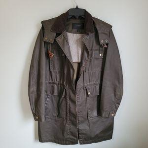 J. Crew Downtown Long Waxed Cotton Field Jacket